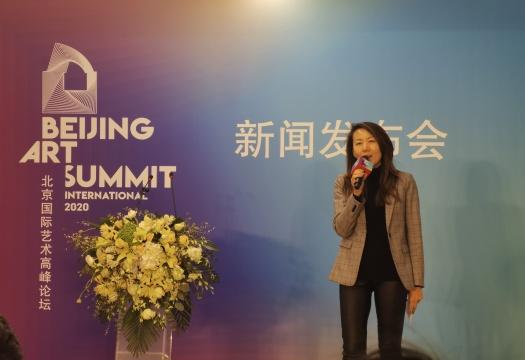 中法文化论坛法方秘书长、论坛总策划胡欣在发布会上致辞