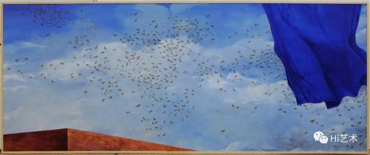 《集体主义精神一》 220×540cm 布面油画 2016