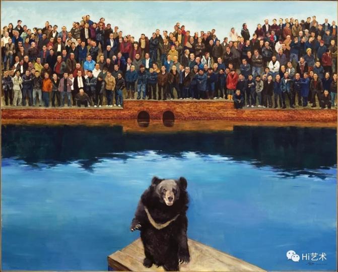 《狗熊》200×250cm 布面油画 2013