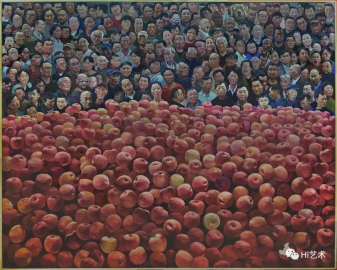 《苹果》200×250cm 布面油画 2017