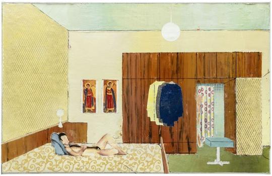 马蒂亚斯·维斯切尔《公寓 2》66.3x103.5x3cm 布面油画 2019