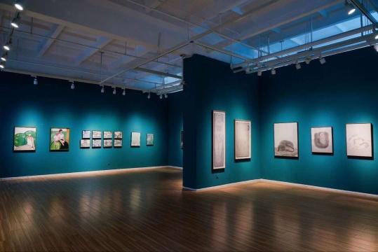 """Hi艺术中心""""水墨惊蛰——1985后出生的年轻一代水墨画家""""展览现场"""