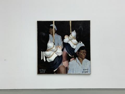 王兴伟《无题(孪生)》200×200cm 布面油画 2007