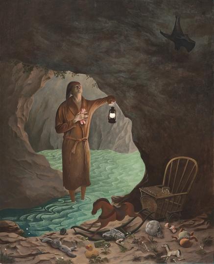 颜秉卿 《洞穴》 120×97cm木板坦培拉2018