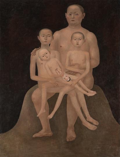 颜秉卿 《遗传》 170×130cm木板坦培拉2019