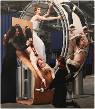 《颠倒世界 -审讯或女工 1》205×180cm 布面油画 2015