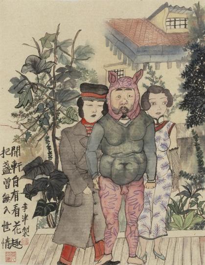 《上海花趣》45.5×34.5cm纸本设色2020