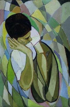 周迈由 《肖像》 1976年 星星美展参展作品