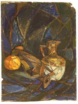 周迈由 《哥们儿》 49.5×38.5cm 纸本油画 1978