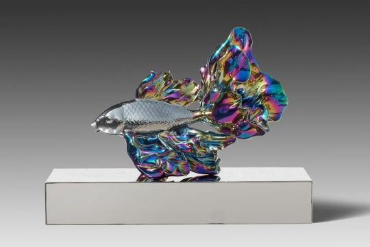 高孝午 《再生- 鲤鱼》 不锈钢镀色 50X26X37cm 2018