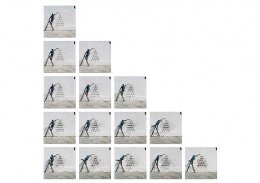 宾·罗德《喷泉》15部分,每部分50×50cm 数码激光冲印 2014