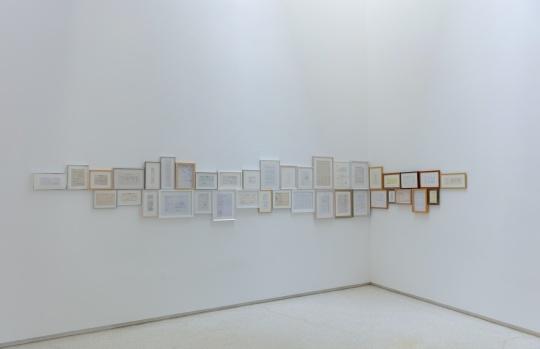 洪浩《再生-收据》 14x21cm铅笔、收据2011© 洪浩 红砖美术馆展览现场 图片由红砖美术馆提供