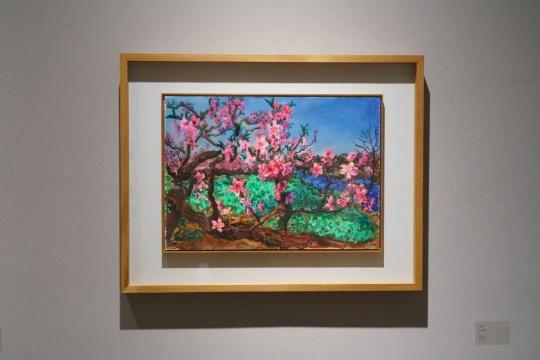 周春芽 《河边的桃树》 2020 纸本丙烯 42×59cm