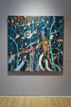 董鹤 《匿林揽月》 2019 布面油画 150×150cm