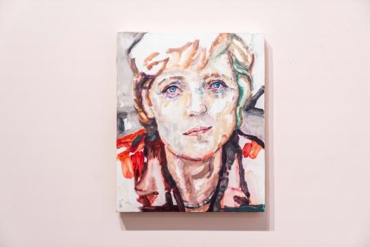 《安格拉》 板上油彩 43 × 35 cm 2017