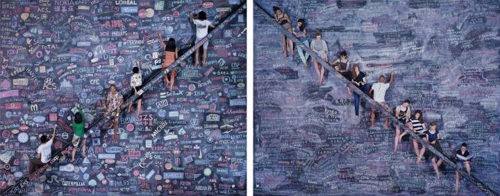 《同一个世界 同一个梦想》180×225cm×2 C-print 2014