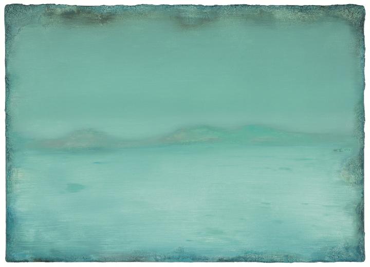 陈淑霞《三绿》80×110cm布面油画 2014