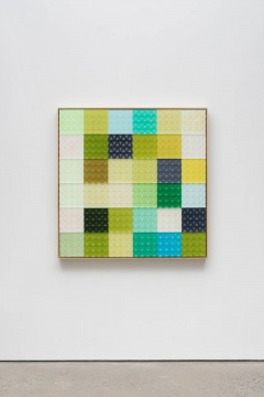 杨光南 《路B》 2×119.7×119.7cm 树脂、油性颜料、木、丙烯2020
