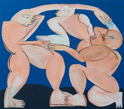 阿纳斯塔西亚·巴伊 《Round Dance》 200×220cm 布面油画 2020