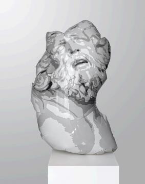 亚当·帕克·史密斯,《Laocoön》 160×41×23cm 树脂、钢、聚氨酯 2020