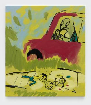 约书亚·纳塔森 《Bike Wreck》 175×155cm 布面油画 2020