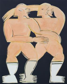 阿纳斯塔西娅·巴伊 《Pharroah》200x160 cm 布面油画 2020