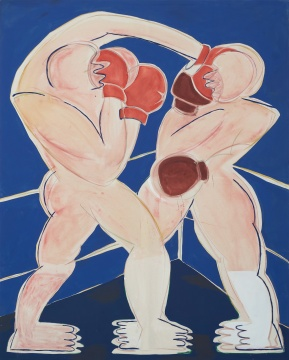 阿纳斯塔西娅·巴伊 《Boxer》200x160cm 布面油画 2020