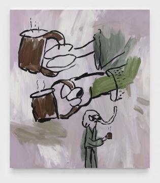 约书亚·纳塔森 《Coffee》 175x155cm 布面油画 2020