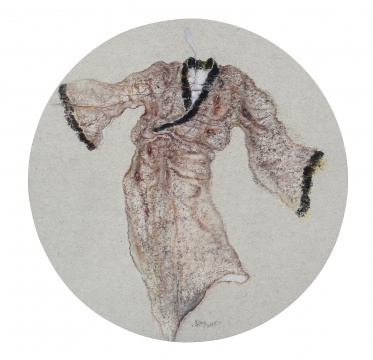 《微醺》 52×52㎝ 纸本色粉 2014