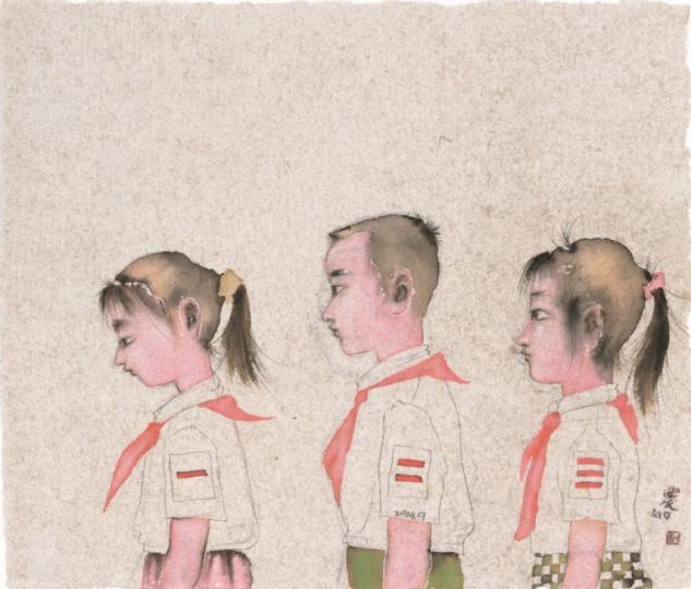 刘庆和 《中队长》 55x65cm 纸本水墨 2014