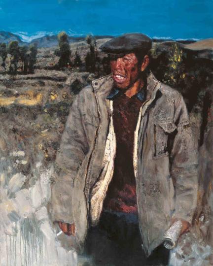 曹新林《寒露》 150cm×120cm 布面油画 2008