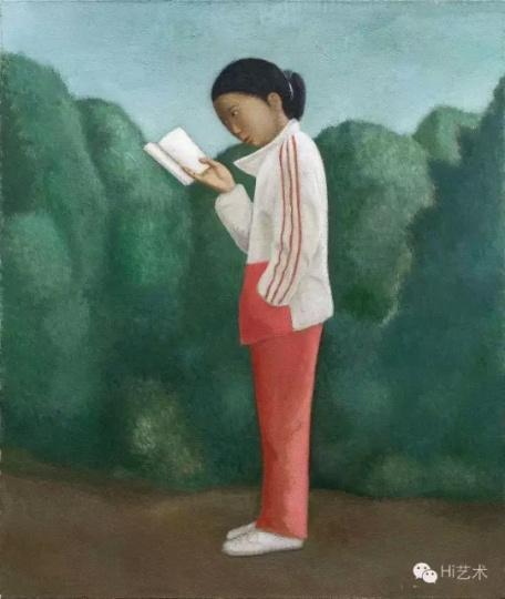 段建伟《读书》 130×110cm 布面油画 2016