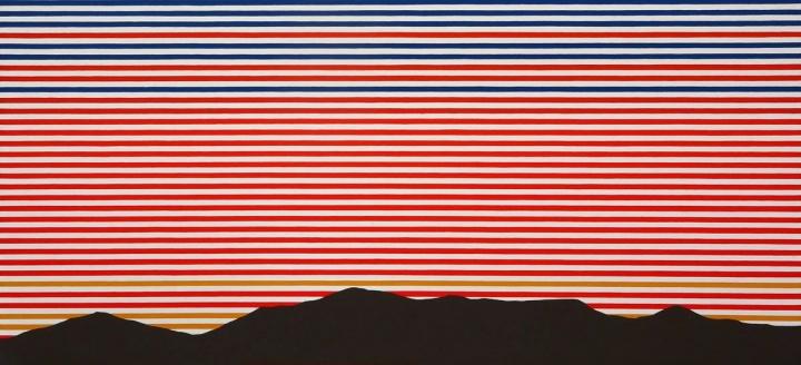 刘港顺《山河无尽》136×292cm 布面油画 2012
