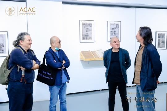 到场嘉宾 艺术家杨述,艺术家张晓刚、湖北美术馆馆长冀少峰、艺术家王广义