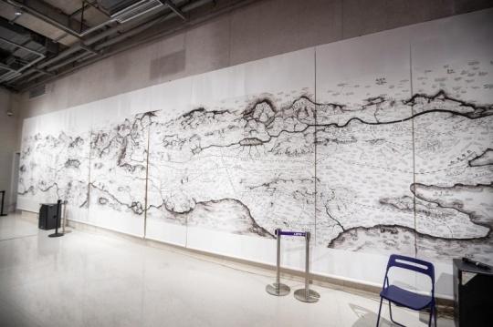 邱志杰 《技术史地图》2.45x13.75m AR 2020