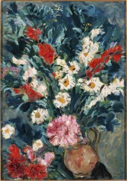 马克·夏加尔《花瓶》69.8×49.5cm 布面油画 1925