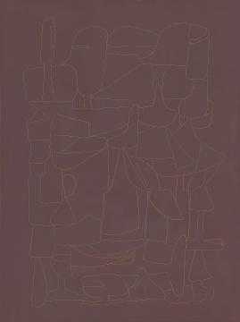《普天乐》40x30cm 大漆、麻、木板 2020