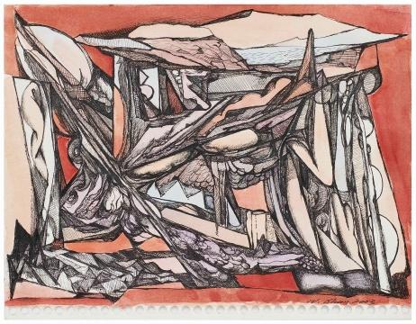 《纸本手稿No.8》21.4x27.9cm 纸本水彩、签字笔 2003