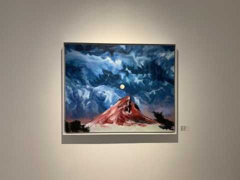 《孤山》 100x80cm 布面丙烯 2018