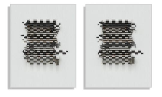 刘国强 《奇数与偶数系列》 70×50cm×2 综合材料-摄影 2020