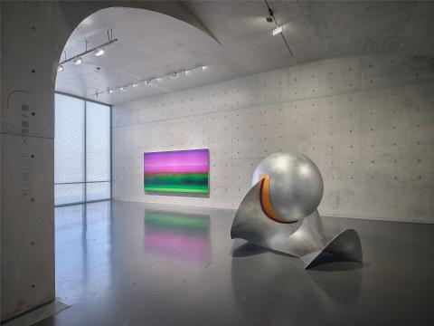 刘韡《东方 2020 No. 5》《微观世界 No.4》,龙美术馆(西岸馆)展览现场