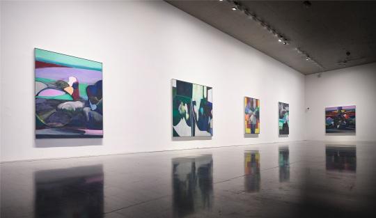 刘韡《复活》系列油画,龙美术馆(西岸馆)展览现场