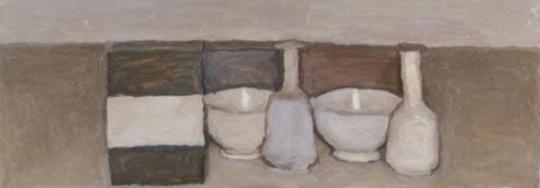 《静物》 26.4×70.9cm 布面油画 1953 -1954