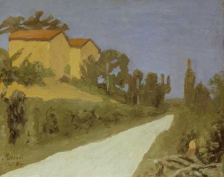 《白色的路(风景)》 42.5×53.3cm 布面油画 1941
