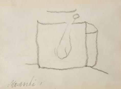 《静物》 15×22cm 纸上铅笔画 1963
