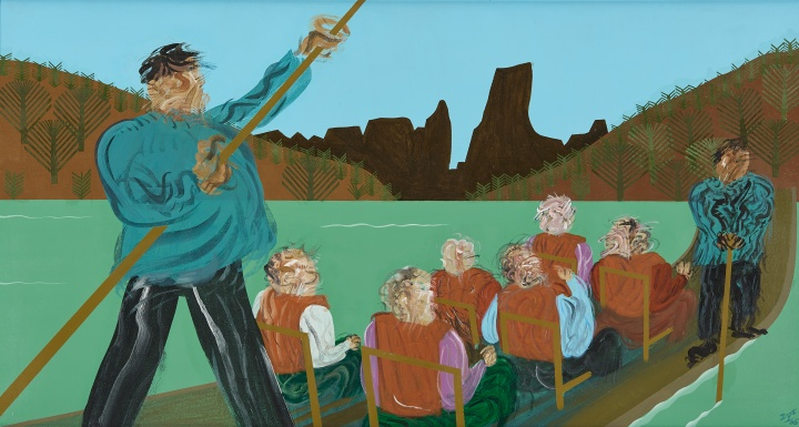 夏阳《漂水》80×148cm 布面油画 2005