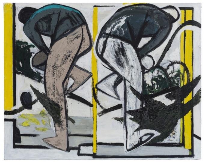 刘晓辉 《无题-两块镜子》 200×250cm 布面油画 2016