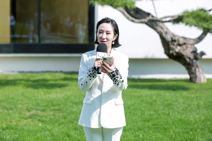 松美术馆负责人王端在媒体预览现场发言