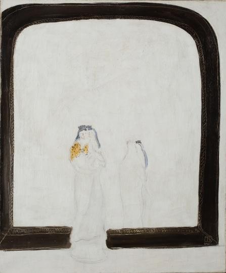 常玉《镜前母与子》55×46cm 布面油画 1930年代