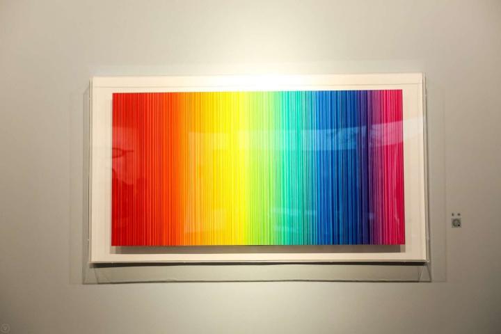 杭春晖《彩虹2020-1》 83×157cm纸本设色2020
